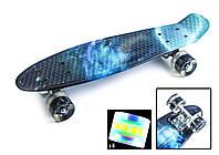 """Скейт Penny Board """"Galaxy 2"""" 22 Светящиеся колеса. Пенни Борды, фото 1"""