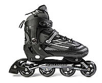 Ролики раздвижные Scale Sports. Adult Skates. Черные 41-44. Роликовые коньки, фото 1
