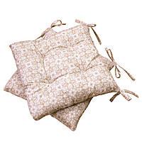 Подушка на стул узор на бежевом
