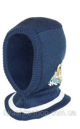 Стильная синяя шапка - шлем еврозима с Frozen, Холодное сердце, на девочек, Disney