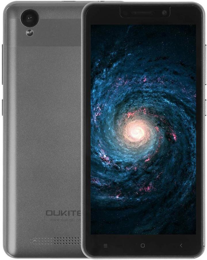 "Смартфон Oukitel C10 1/8Gb Grey, 3/2Мп, 5.5"" IPS, 2SIM, 3G, 2000мАh, 4 ядра, MT6580"