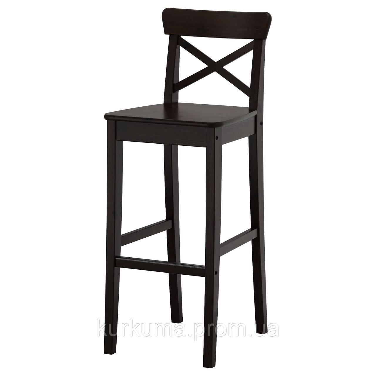 IKEA INGOLF Барный стул со спинкой, бронза  (902.485.15)