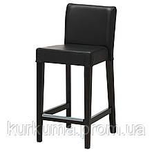 IKEA HENRIKSDAL Барный стул со спинкой, бронза, глосе черный  (903.199.18)