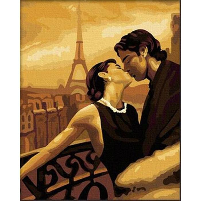 Картина по номерам Идейка - Мечтами в Париже 40x50 см (КНО045)