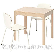IKEA EKEDALEN/SVENBERTIL Стол и 2 стула, береза, белый  (592.214.53)