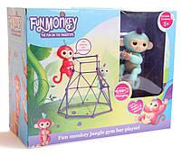 Комплект  Fingerlings Jungle Gym PlaySet + интерактивная обезьянка Zoe, фото 1