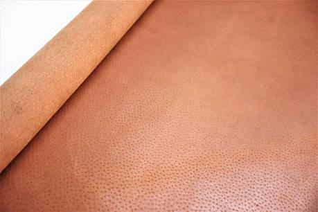Кожа стелечная (подкладочная) воскованая цвет коричневая  (Сognac), фото 2