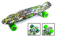 "Скейт Penny Board ""Green cane"" (Пенни борд), фото 1"