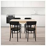 IKEA EKEDALEN/IDOLF Стол и 4 стула, береза, черная  (192.298.37), фото 2