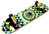 СкейтБорд деревянный для трюков от Fish Skateboard с рисунком Eye DMF, фото 1