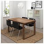 IKEA MORBYLANGA/BERNHARD Стол и 4 стула, коричневый, мжук темно-коричневый  (092.460.88), фото 2
