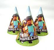 """Ковпак святковий 15 см, """"Minecraft"""" Майнкрафт"""