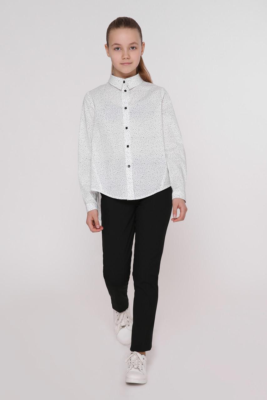 Рубашка детская Татьяна Филатова модель 241 белая в точку