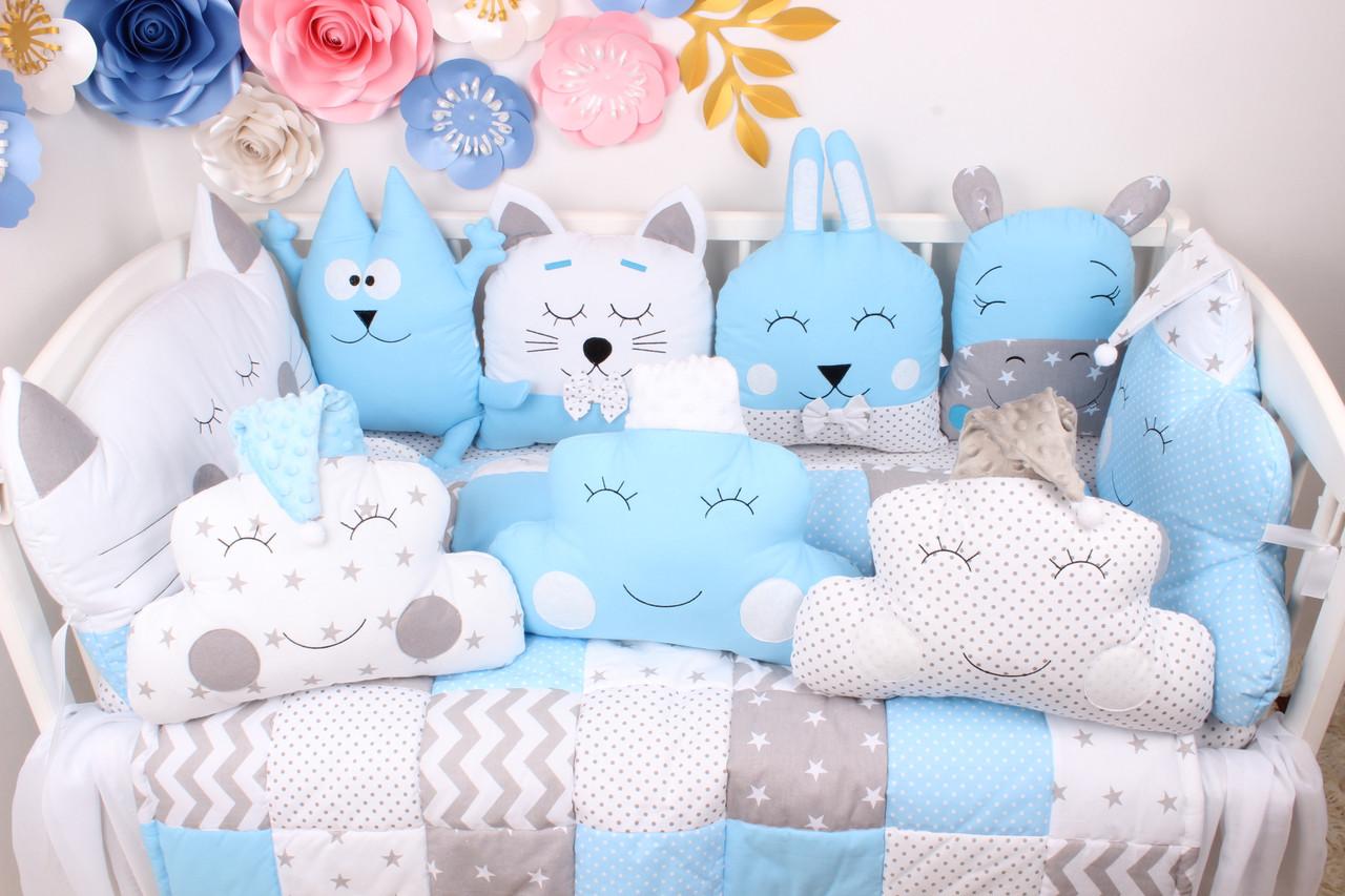Комплект в кроватку в Голубых цветах