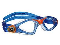 Очки для плавания Aqua Sphere Kayenne Junior (Синий-оранжевый; линзы прозрачные)