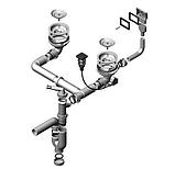 Двойная гранитная мойка Alveus R&R ROCK 80 G11 arctic 60*48, фото 3