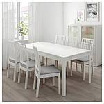 IKEA EKEDALEN/EKEDALEN Стол и 6 стульев, белый, Оррста светло-серый  (192.213.51), фото 2