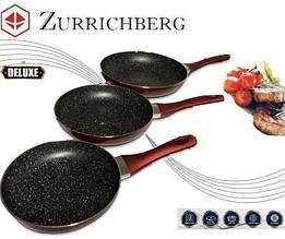 Комплект сковородок разные размеры Zurrichberg ZB 2018 мраморное покрытие 20/24/28 см