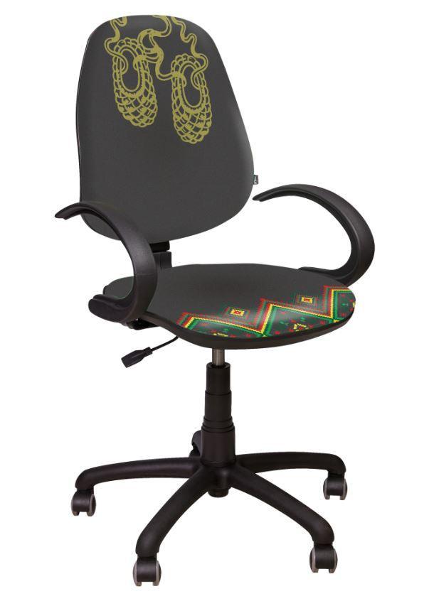 Кресло Поло 50 АМФ-5 Украина №4. Обивка кресла выполнена в Украинском Стиле из ткани со сверх стойким изображением.