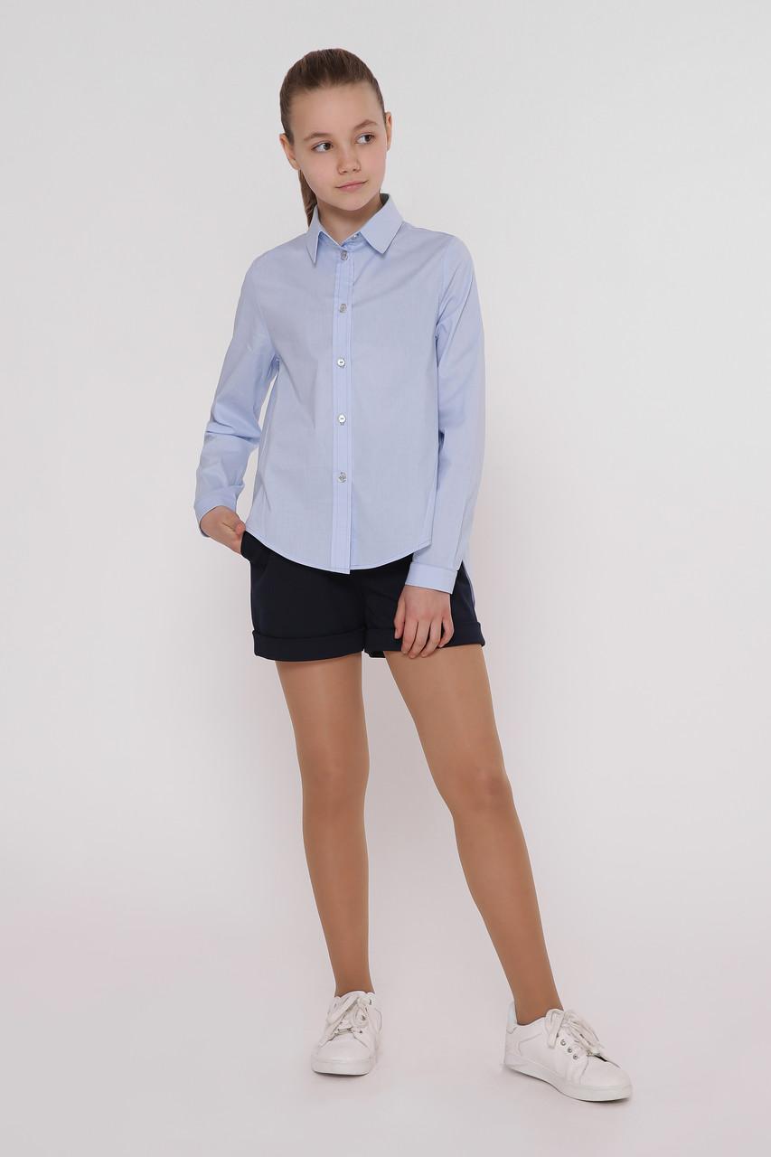Рубашка детская Татьяна Филатова модель 241 голубая