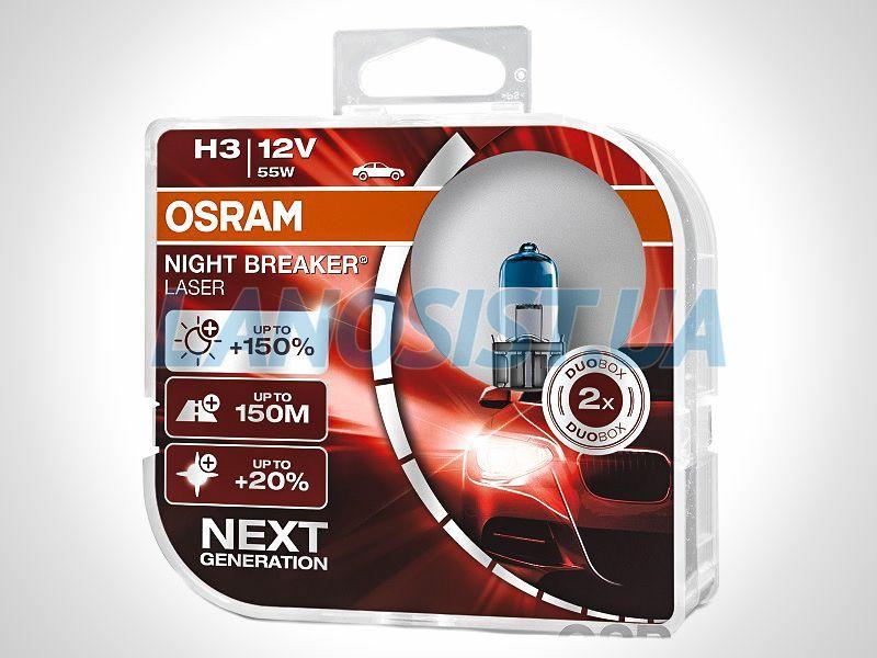 Автолампа H3 +150% DUO Osram 64151NLHCB.