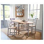 IKEA GAMLEBY Стол c откидными столешницами, светлая патина пятно, серый  (602.470.27), фото 2