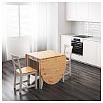 IKEA GAMLEBY Стол c откидными столешницами, светлая патина пятно, серый  (602.470.27), фото 3