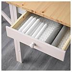 IKEA GAMLEBY Стол c откидными столешницами, светлая патина пятно, серый  (602.470.27), фото 4