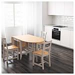 IKEA GAMLEBY Стол c откидными столешницами, светлая патина пятно, серый  (602.470.27), фото 5