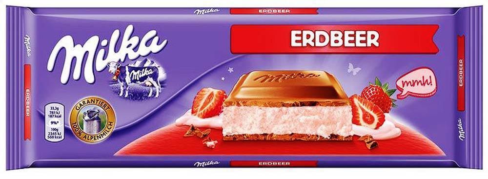 Шоколад Milka Strawberry (с клубничным йогуртом) Швейцария 300г