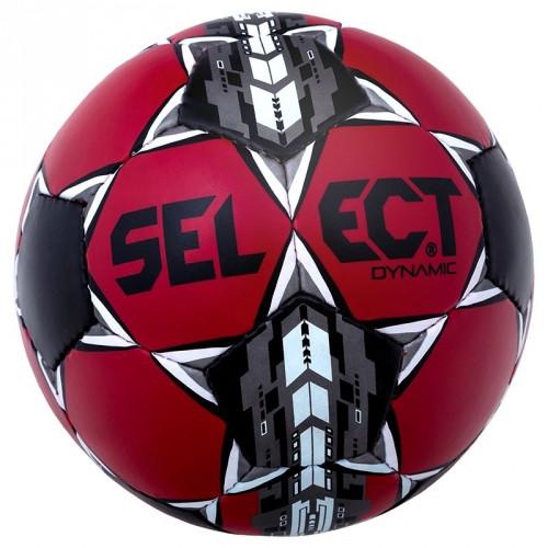 Мяч футбольный для любительских тренировок и игр SELECT Dynamic размер 5, красно-черный