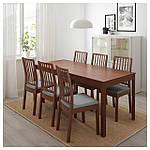 IKEA EKEDALEN Раздвижной стол, коричневый  (303.408.09), фото 3
