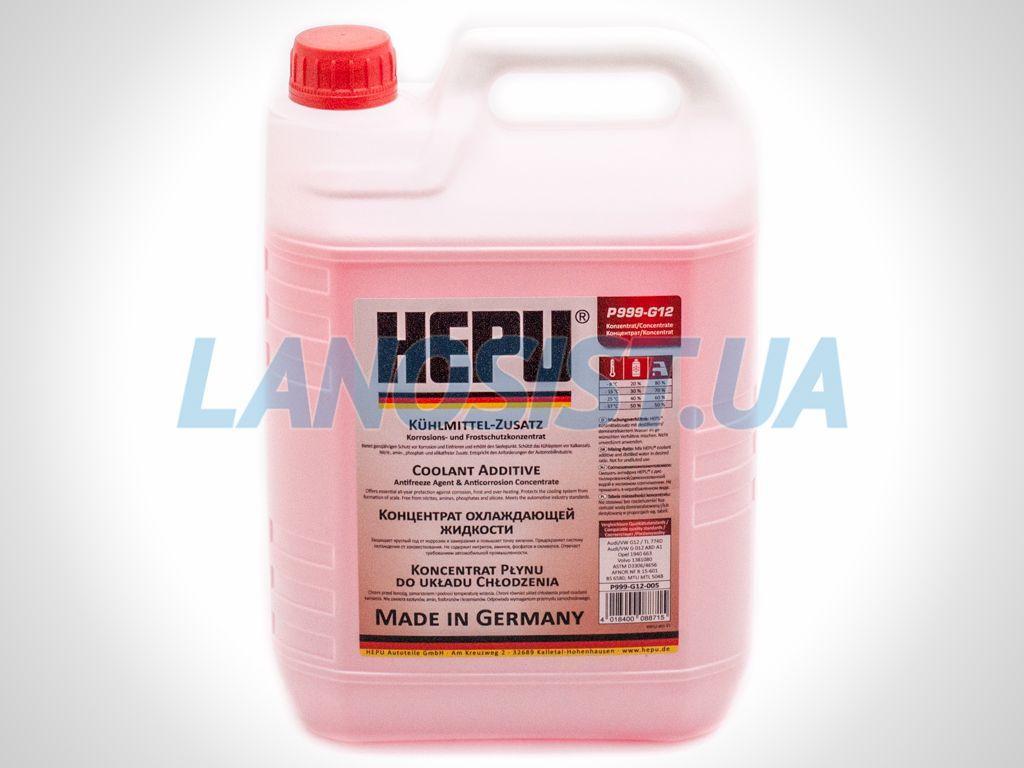 Антифриз HEPU G12 красный концентрат 5л P999G12005.