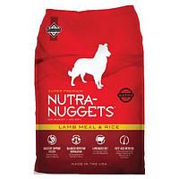 Корм для собак Nutra Nuggets Lamb & Rice 3 кг (Красная Нутра) с ягненком Made in the USA.