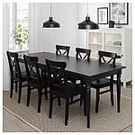 IKEA INGATORP Раздвижной стол, черный  (902.224.07), фото 3