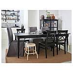 IKEA INGATORP Раздвижной стол, черный  (902.224.07), фото 5
