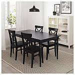 IKEA INGATORP Раздвижной стол, черный  (902.224.07), фото 10