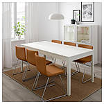 IKEA EKEDALEN Раздвижной стол, белый  (703.407.65), фото 4