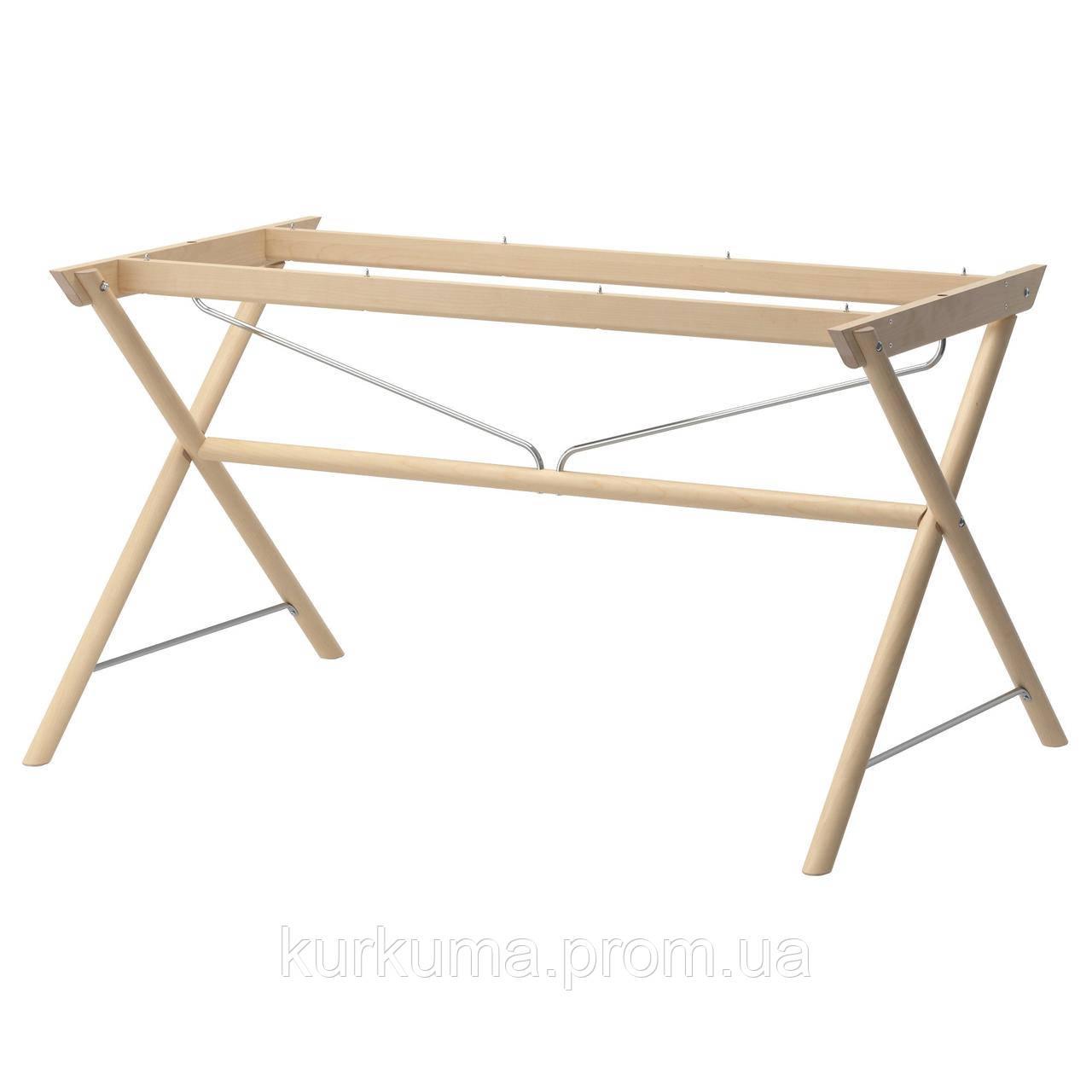 IKEA DALSHULT Основание стола, береза  (402.472.07)