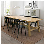 IKEA MOCKELBY/IKEAPS2012 Стол и 6 стульев, дуб, черный  (991.317.90), фото 2