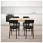 IKEA EKEDALEN/IDOLF Стол и 4 стула, береза, черная  (092.214.60), фото 2