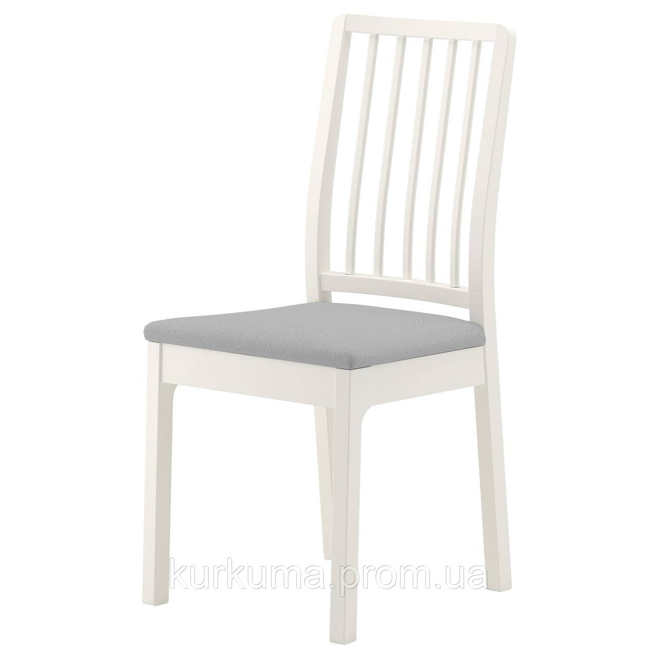 IKEA EKEDALEN Стул, белый, Оррста светло-серый  (603.410.15)