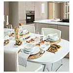 IKEA BERNHARD Стул, хром, Кават белый  (201.530.68), фото 3