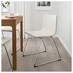 IKEA BERNHARD Стул, хром, Кават белый  (201.530.68), фото 6