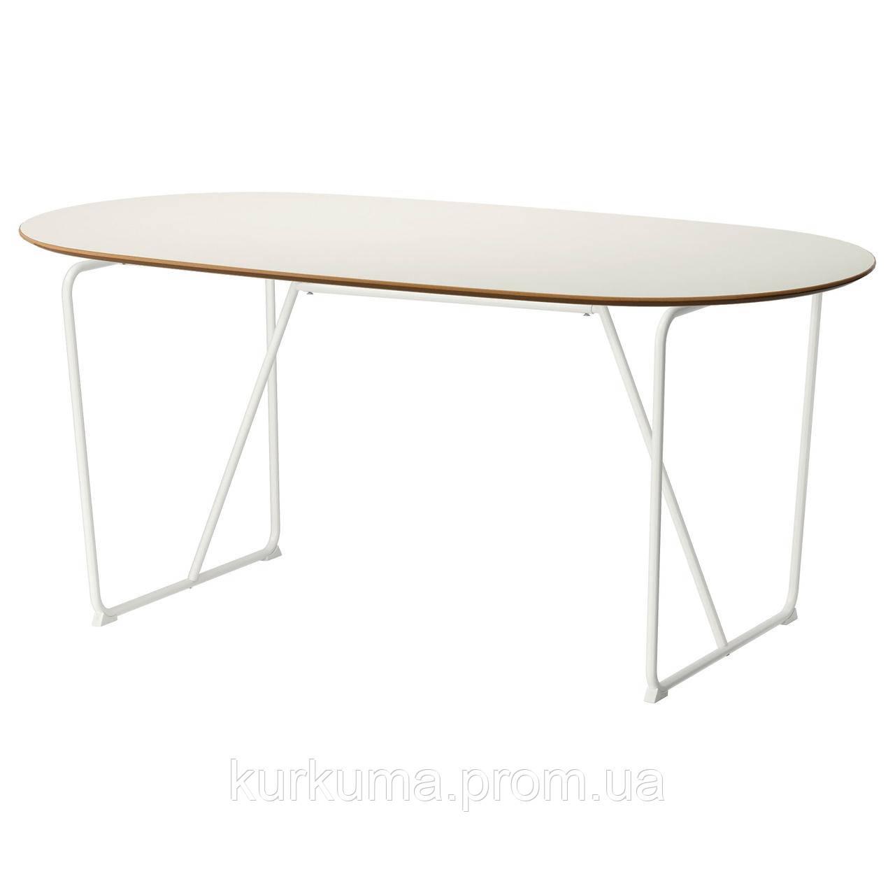 IKEA SLAHULT Стол, белый, бэккарид белый  (791.406.96)