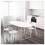 IKEA SLAHULT Стол, белый, бэккарид белый  (791.406.96), фото 2