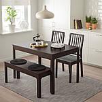IKEA EKEDALEN/EKEDALEN Стол с 2 стульями и скамейкой, темно-коричневый, Оррста (792.213.10), фото 5