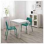 IKEA VANGSTA/TEODORES Стол и 2 стула, белый, зеленый  (492.521.76), фото 2