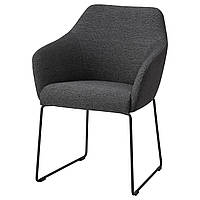 IKEA TOSSBERG Стул, металлический черный, серый  (904.353.24)
