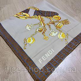 Платок Fendi бежевый